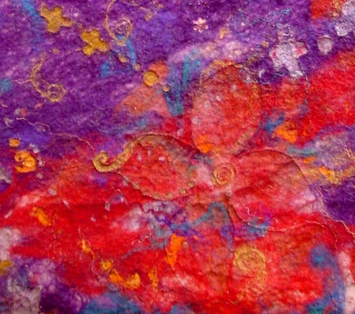 Abstract textile art - 'Dreaming of Jewellery' (detail)