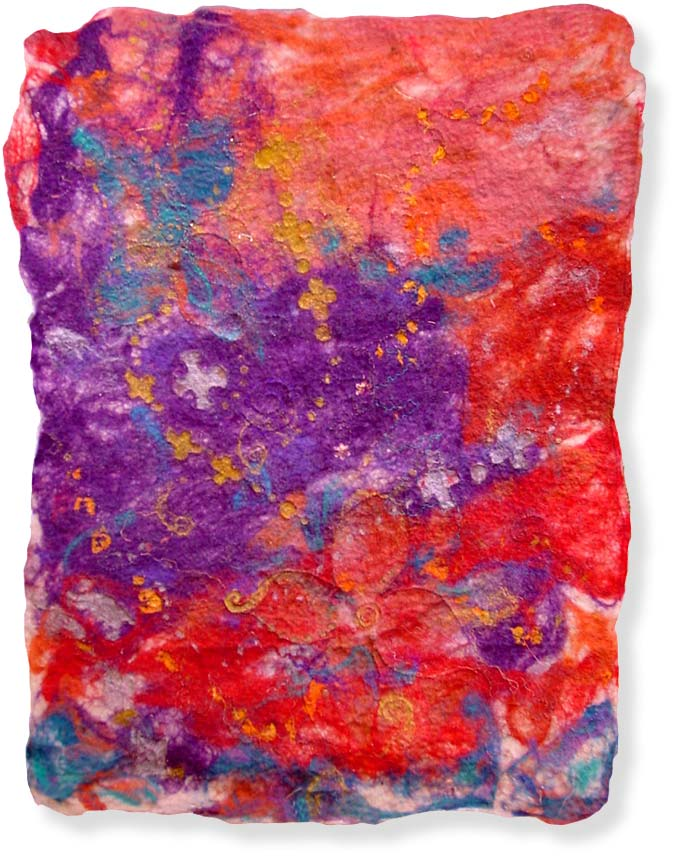 Abstract textile art - 'Dreaming of Jewellery' - click here to see an enlarged detail