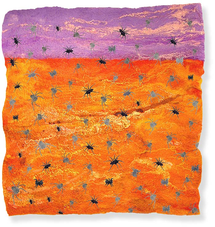 'Outback' - (contemporary semi-abstract fiber art by textile artist Mary-Clare Buckle)